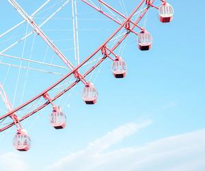 amusement park, blue, and Dream image