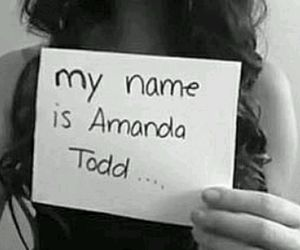 amanda todd, suicide, and black and white image