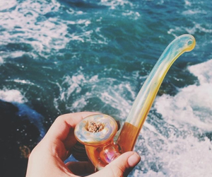 high, ocean, and pipe image