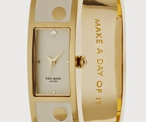 fashion, gold, and kate spade image