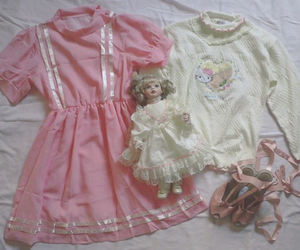 delicate, doll, and dress image