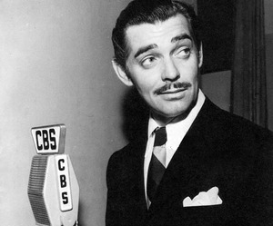 black and white and clark gable image