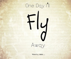 fly, quote, and away image