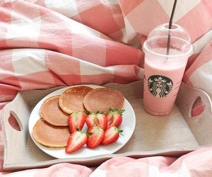 food, strawberry, and good morning image