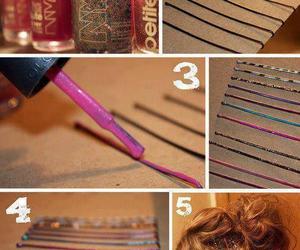 diy, hair, and nail polish image