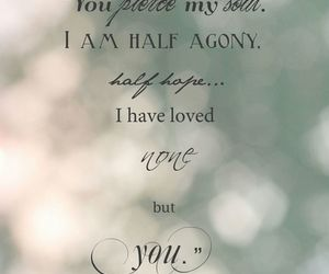 love, quote, and agony image
