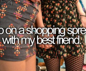 before i die, shopping spree, and bucketlist image