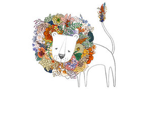 lion, flowers, and cute image