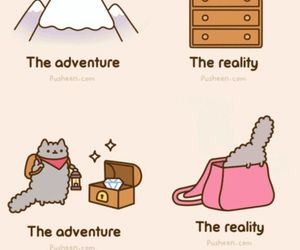 pusheen, adventure, and cat image