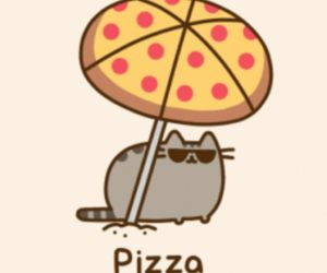 pizza, pusheen, and cat image