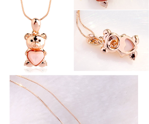bear, beautiful, and necklace image