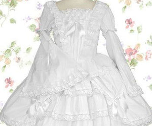 evening dress, long sleeve, and princess dress image
