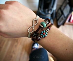 bracelet, infinite, and photography image