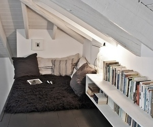 book, room, and home image