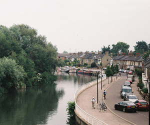 city, nature, and england image