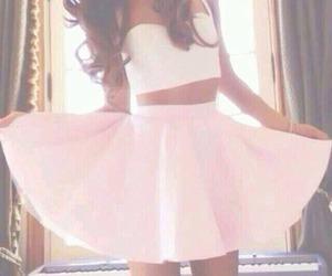 ariana grande, pink, and skirt image
