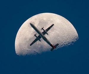 moon and plane image