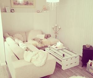 room, white, and house image