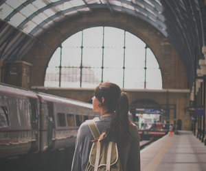girl, train station, and hipster image