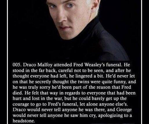 death, draco malfoy, and funeral image