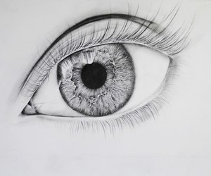eye, beautiful, and draw image