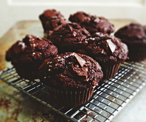 banana, chocolate, and muffins image