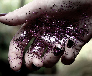 glitter, hands, and purple image
