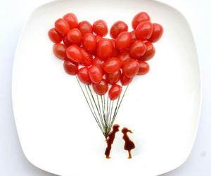 ballons, couples, and sweet image