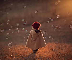 bubbles, child, and photography image