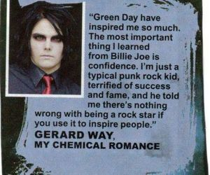gerard way, billie joe armstrong, and green day image
