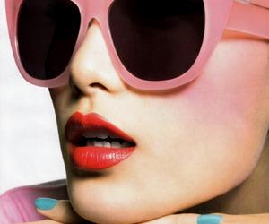 fashion, pink, and glasses image
