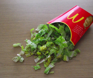 food, healthy, and McDonalds image