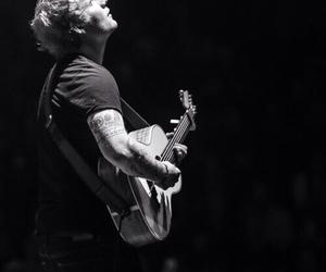 ed sheeran, singer, and black and white image