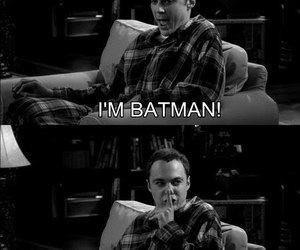 batman, sheldon, and the big bang theory image