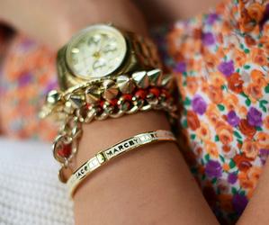 fashion, gold, and pretty image
