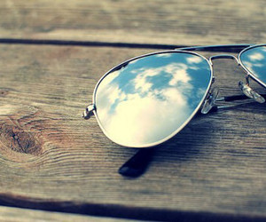 sky, sunglasses, and summer image