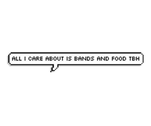 bands, food, and music image