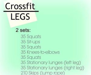 motivation, workout, and crossfit image
