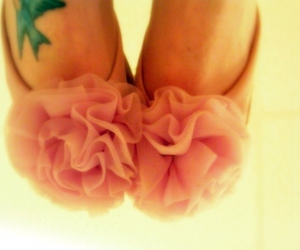 shoes, pink, and tattoo image