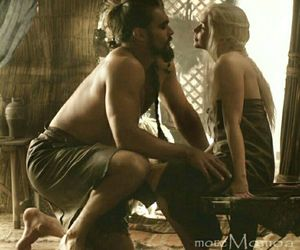 game of thrones and the khal and khaleesi image