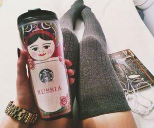 girl, russia, and starbucks image