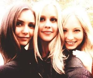 Nina Dobrev, claire holt, and candice accola image