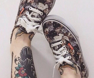 vans, tattoo, and cat image
