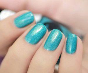blue, nail polish, and nails image