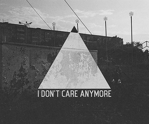 quotes, care, and triangle image