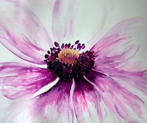 art, flower, and watercolor image