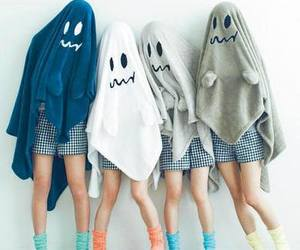 ghost, friends, and Halloween image