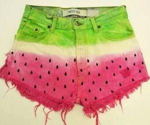 watermelon, shorts, and short image