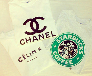 starbucks, chanel, and celine image