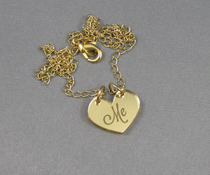 me, heart, and necklace image